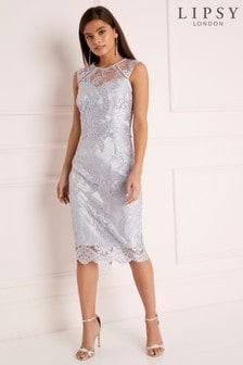 Lipsy VIP Sequin Lace Midi Dress