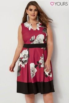 Yours Curve Floral Scuba Dress