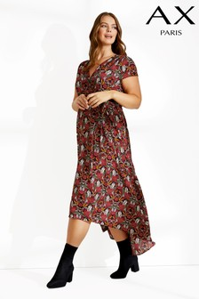 AX Paris Curve Printed Maxi Dress