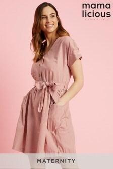 Mamalicious Maternity Stripe Print Dress