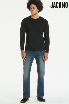Jacamo Stretch Bootcut Washed Jeans