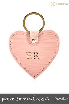 Personalised Heart Keyring By HA Designs