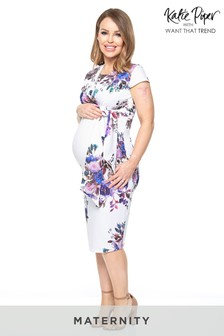 Want That Trend Maternity Floral Wrap Dress