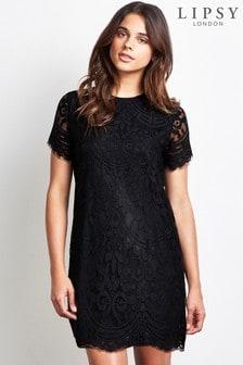 Lipsy Petite Lace Shift Dress