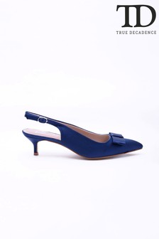 True Decadence Small Heel Bow Detail Shoes