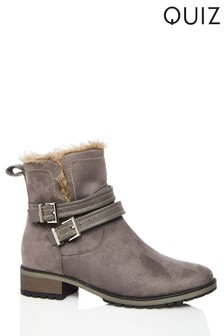 Quiz Buckle Ankle Boots
