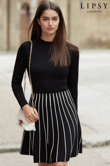 Lipsy 2 In 1 Piped Turtle Neck Dress