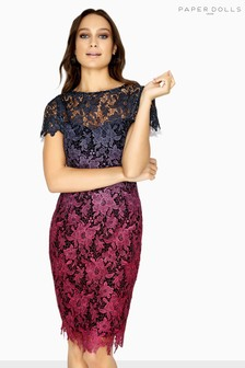 Paper Dolls Ombre Crochet Lace Dress