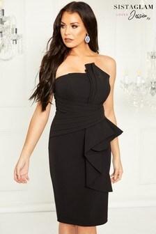 Sistaglam Loves Jessica Bandeau Midi Dress