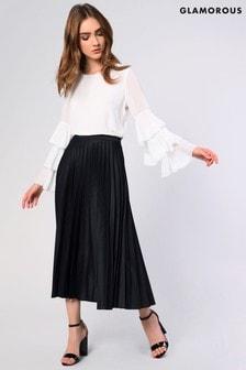 Glamorous Pleated Midi Skirt