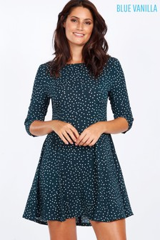 Blue Vanilla Polka Dot Dress