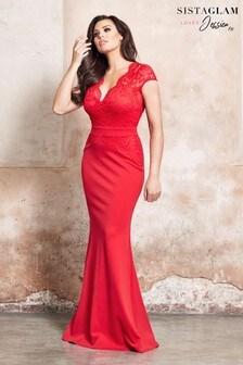 Sistaglam loves Jessica Petite Lace Maxi Dress