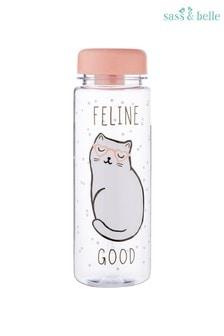 Sass & Belle Cat Queen Feline Water Bottle