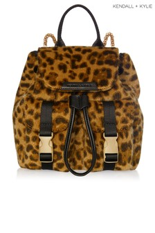 Kendall Kylie Leopard Poppy Faux Pony Mini Backpack