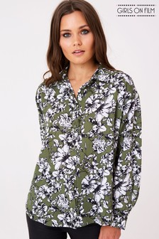 Girls On Film Floral Printed Blouse