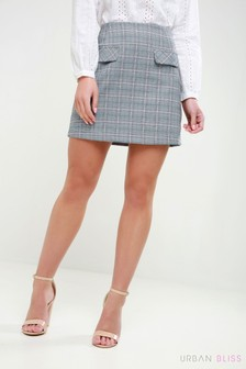 Urban Bliss Check Mini Skirt