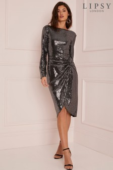 Lipsy Metallic Knot Detail Dress