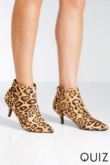 Quiz Leopard Stiletto Boot