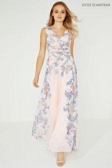 78f105eeeea5 Little Mistress Floral Wrap Maxi Dress
