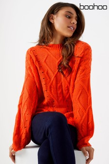 Boohoo Cable Detail Jumper