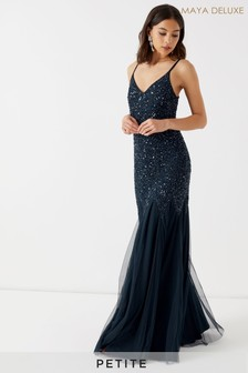 Maya Petite Sequin Cami Godet Fishtail Maxi Dress