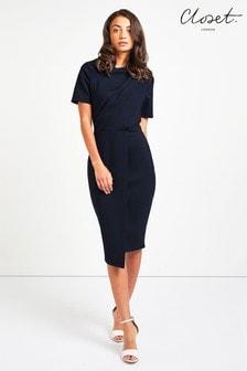 Closet Draped Jersey Dress