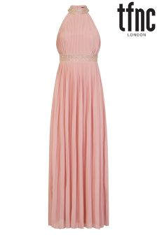 tfnc High Neck Embellished Maxi Dress