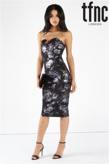 tfnc Floral Print Scuba Bodycon Dress