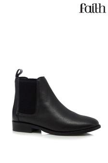 Faith Leather Chelsea Ankle Boots