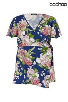 Boohoo Maternity Floral Print Wrap Top