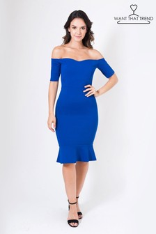 Want That Trend Cap Sleeve Bodycon Dress