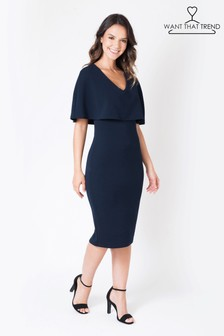 Want That Trend Overlay Bodycon Dress