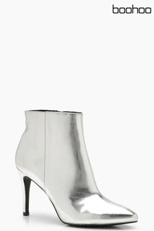 Boohoo Pointed Heeled Ankle Boot