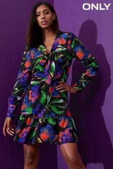 Only Floral Print Skater Dress