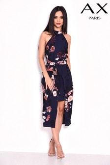 AX Paris Printed Overlay Midi Dress