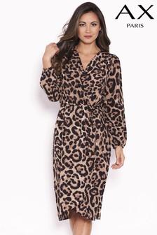 fd6d7489423ff AX Paris Wrap Front Animal Print Dress
