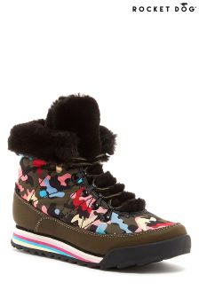 Rocket Dog Icee Butter Faux Fur Lined Ankle Boots