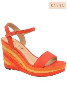 Ravel Wedge Leather Sandals