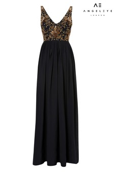 Angeleye Embroidered Detail Maxi Dress