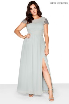 Little Mistress Curve Embellished Maxi Dress