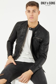 Only & Sons Faux Leather Jacket