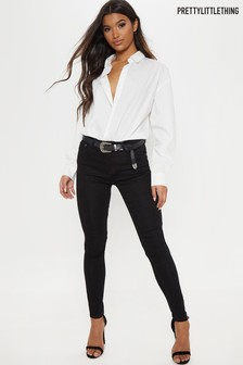 PrettyLittleThing Mid Rise Skinny Fit Jeans