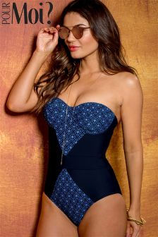 Pour Moi Daydreamer Underwired Halter Padded Swimsuit