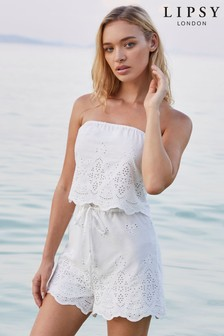 Lipsy Broderie Playsuit