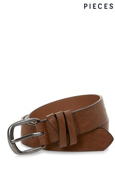Pieces Classic Jeans Belt Brown