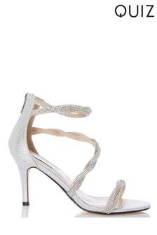 Quiz Diamanté Twist Heeled Sandal