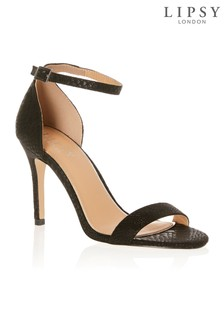 Lipsy Shimmer Reptile Barely There Sandals