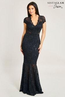 Sistaglam Loves Jessica Sequin Maxi Dress