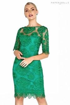 Paper Dolls Crochet Detail Lace Dress
