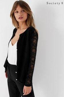 Society 8 Lace Sleeve Cardigan